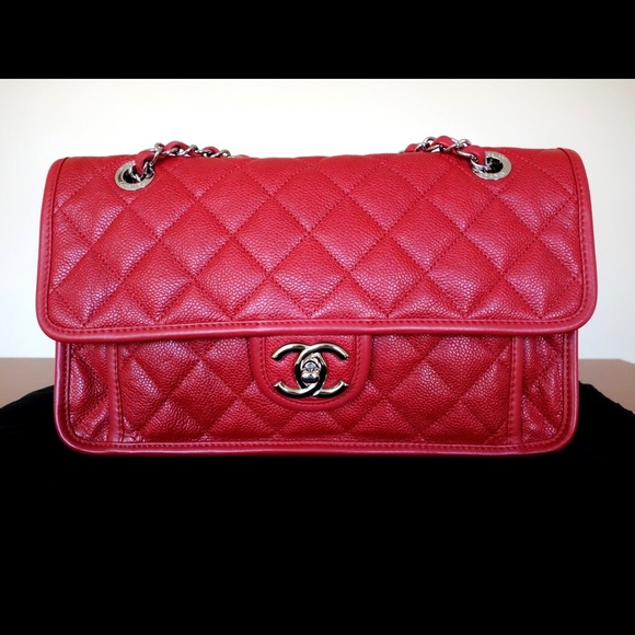 a0c3723a21 CHANEL Handbags - Chanel Red French Riviera Flap Bag!